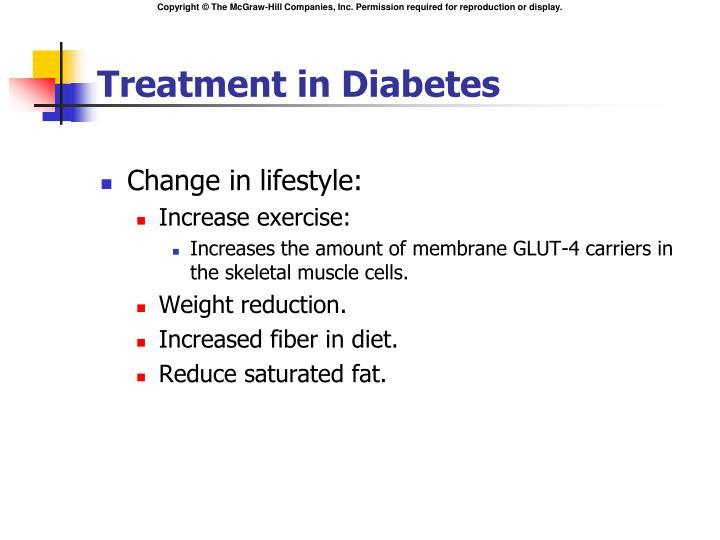 Treatment in Diabetes