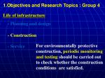 1 objectives and research topics group 42