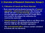 2 overview of research outcomes group 4
