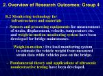 2 overview of research outcomes group 42