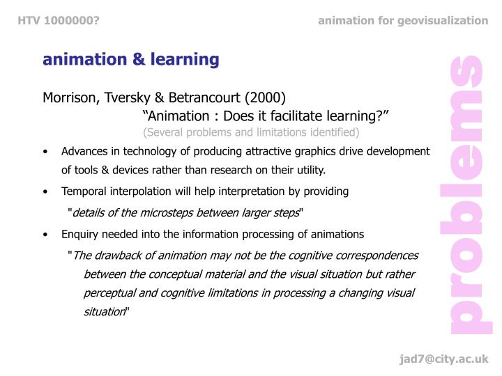 animation & learning