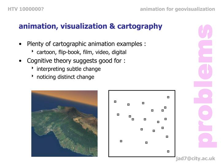 animation, visualization & cartography