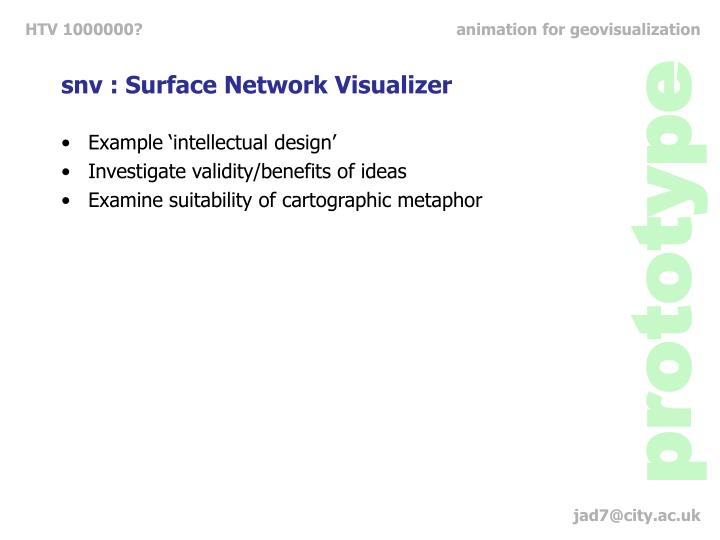 snv : Surface Network Visualizer
