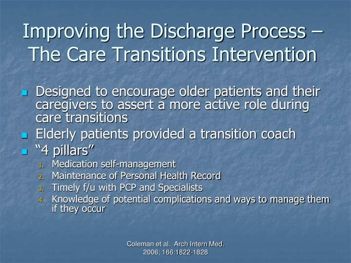 Improving the Discharge Process – The Care Transitions Intervention