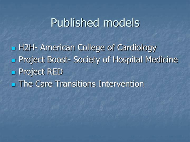 Published models