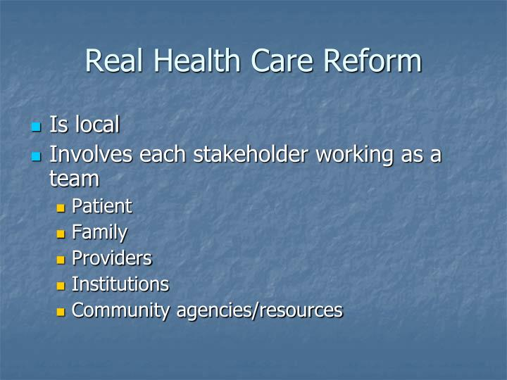 Real Health Care Reform