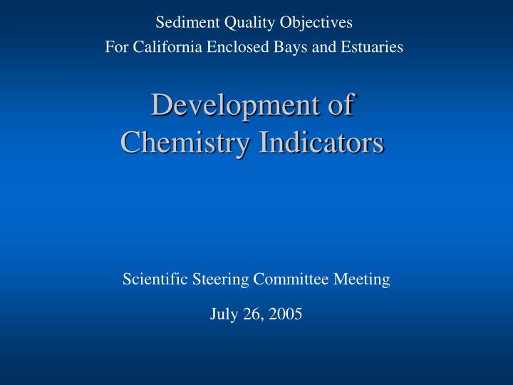 development of chemistry indicators n.