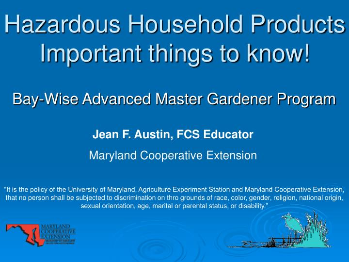 hazardous household products important things to know n.