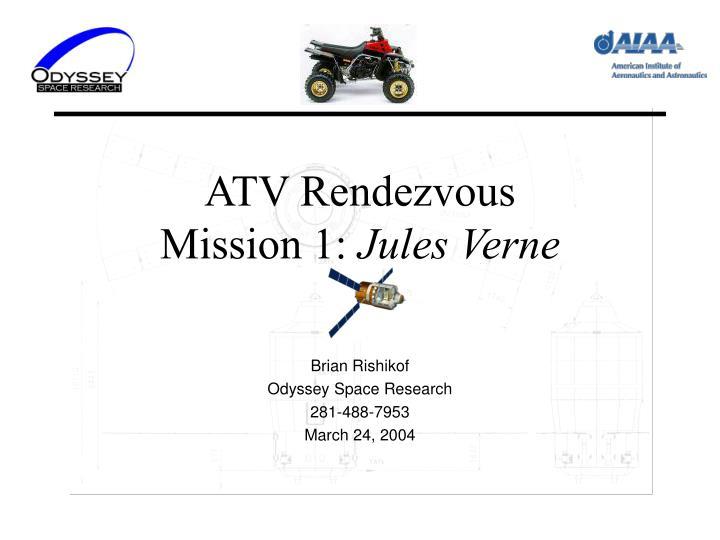 atv rendezvous mission 1 jules verne