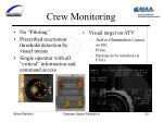 crew monitoring