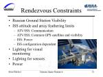 rendezvous constraints