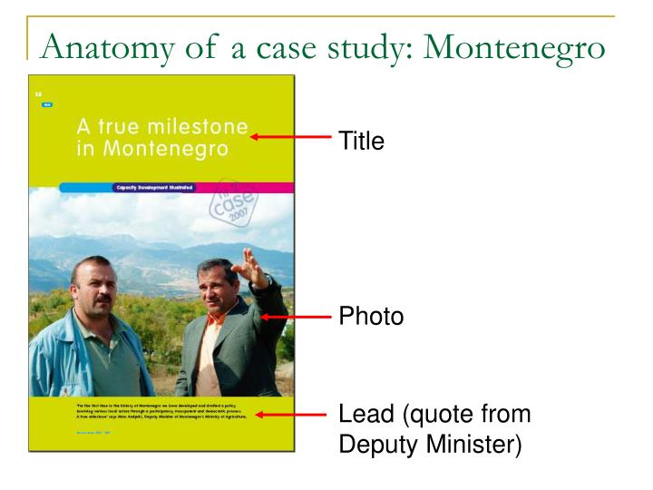 Anatomy of a case study montenegro