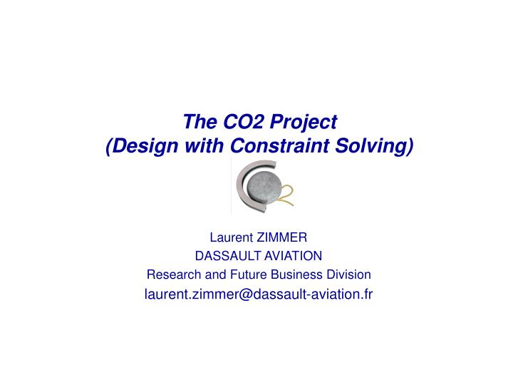 the co2 project design with constraint solving n.