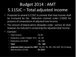budget 2014 amt s 115jc total adjusted income
