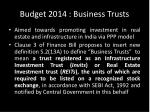 budget 2014 business trusts