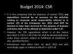 budget 2014 csr1