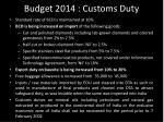 budget 2014 customs duty
