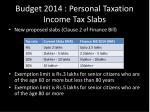 budget 2014 personal taxation income tax slabs