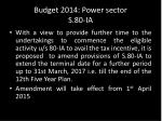 budget 2014 power sector s 80 ia