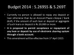 budget 2014 s 269ss s 269t