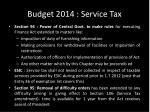 budget 2014 service tax