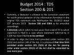 budget 2014 tds section 200 201