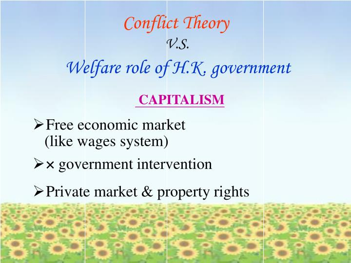 conflict theory corporate welfare The sociological perspective on other animals conflict, and symbolic this largely manifests in legislation and welfare reform like the ban on highly confining.