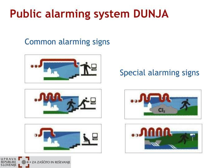 Public alarming system DUNJA