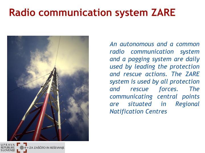 Radio communication system ZARE