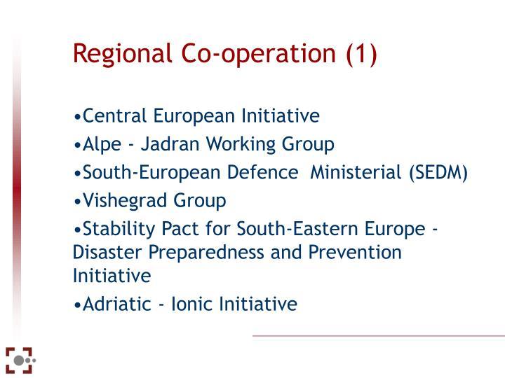 Regional Co-operation (1)