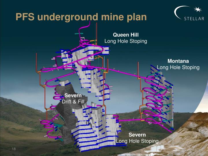 PFS underground mine plan