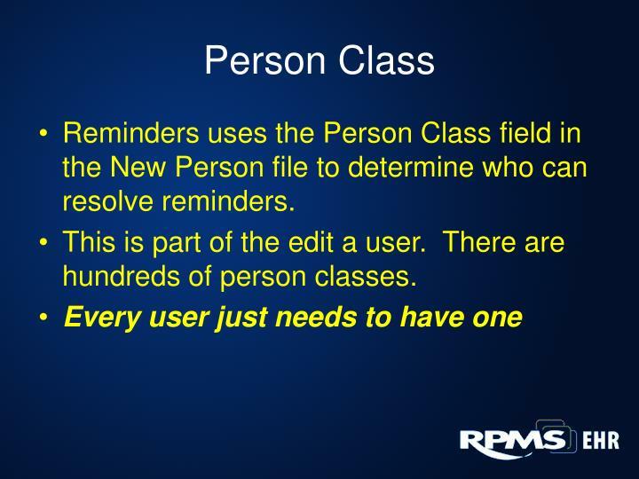 Person Class
