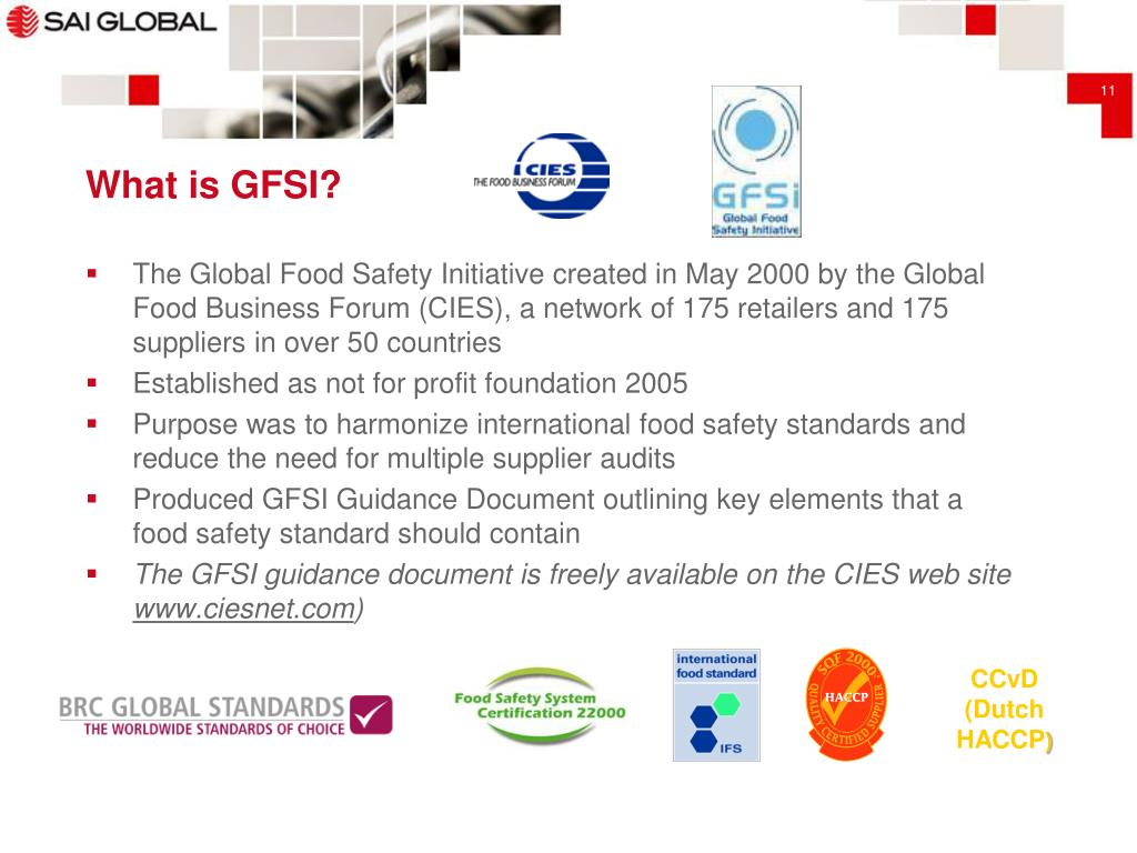 PPT - Global Food Safety Standards - Overview & Comparison