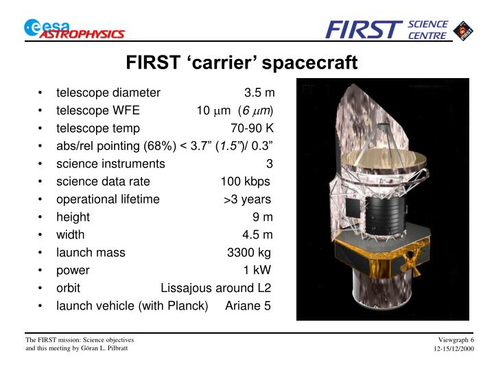 FIRST 'carrier' spacecraft