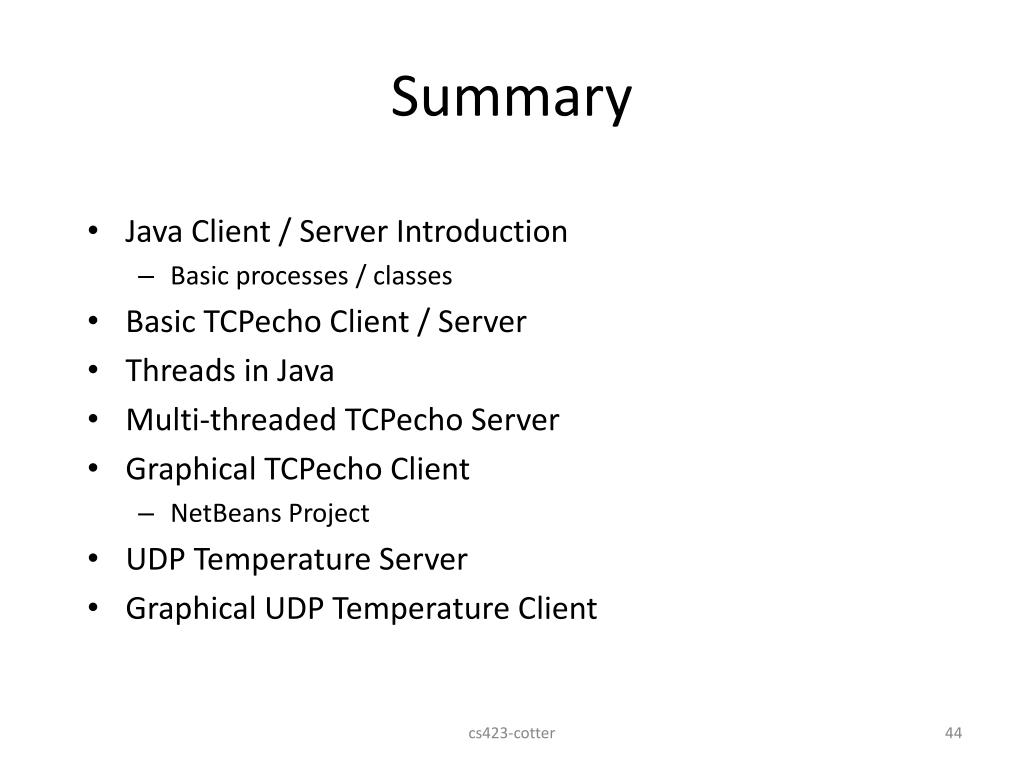 PPT - Client / Server Programming in Java PowerPoint