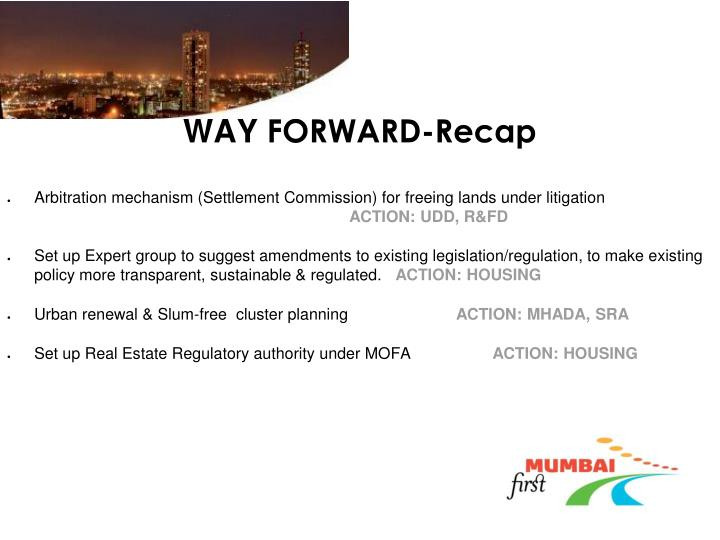 Way forward recap1