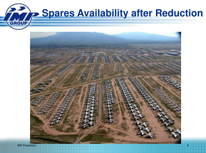 Spares Availability after Reduction