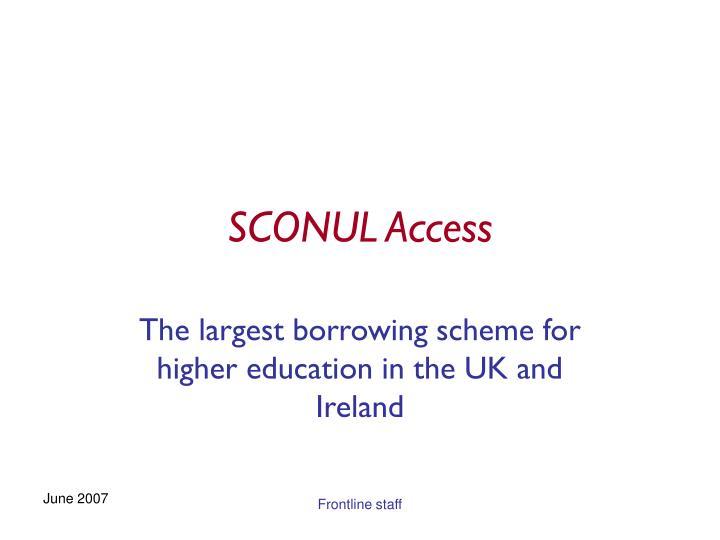 sconul access