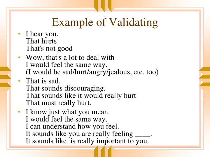 Example of Validating