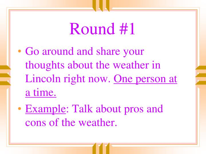 Round #1