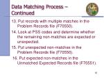 data matching process continued3