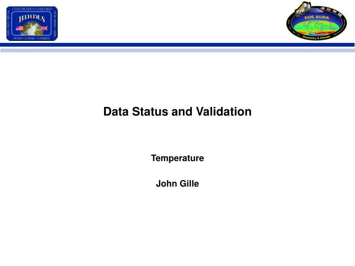 data status and validation n.