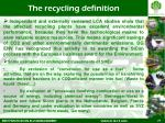 the recycling definition1