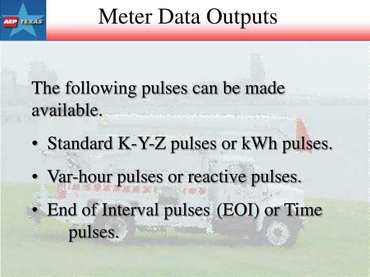 Meter Data Outputs