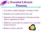 essential lifestyle planning