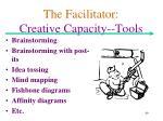 the facilitator creative capacity tools