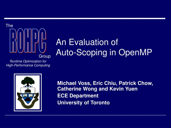 an evaluation of auto scoping in openmp