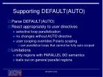 supporting default auto