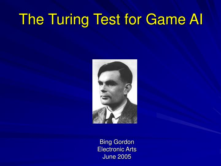 the turing test for game ai n.