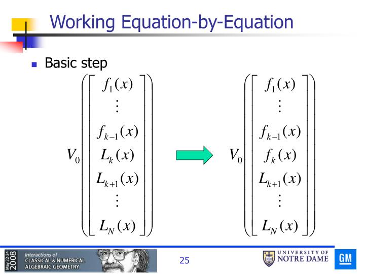 Working Equation-by-Equation